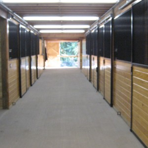 Custom Stable Interior by Old Town Barns