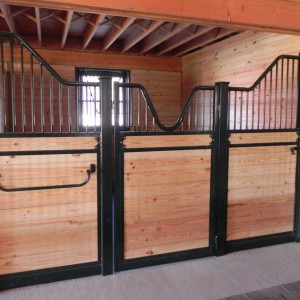 Custom Stall Doors in a High-End Stable Interior
