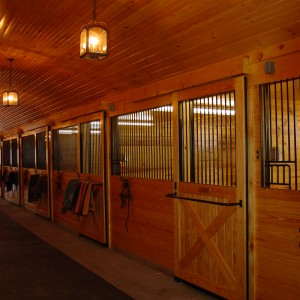 Custom Barrel Vault Ceiling in a Stable by Old Town Barns