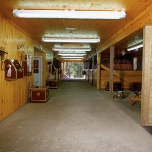 1x12 ship lap pine ceiling in a custom stable center aisle barn