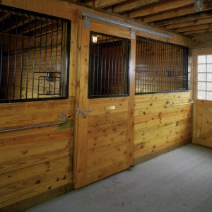 Custom Stable with a Basic 12x12 Stall Front