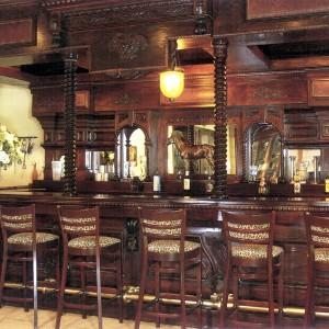 Custom Stable interior with a bar