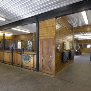 14x14 Euro Style Stall Fronts - Custom Stables by Old Town Barns