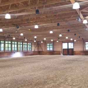 Light Filled Interior of a Riding Arena