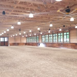 Well Lit Riding Arena Interior by Old Town Barns