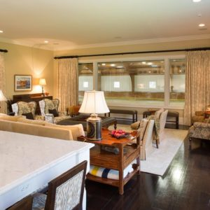 Custom Living/Dining area within the interior of a custom Riding Arena by Old Town Barns