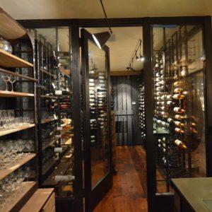 Custom Wine Cellar inside a Luxurious Barn Home