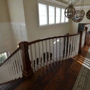 Another view of the 2nd floor balcony in a luxurious residential barn