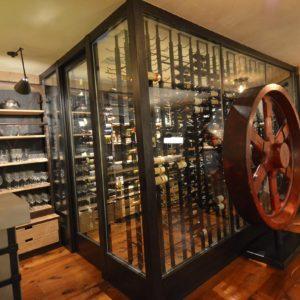 Custom Wine Cellar in a Luxury Barn Living Quarter
