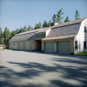 Gambrel Roof Garage by Old Town Barns