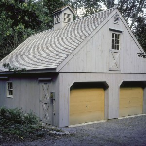 Simple 2 car garage by Old Town Barns