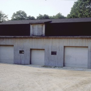 Black Roof Garage with Small windows