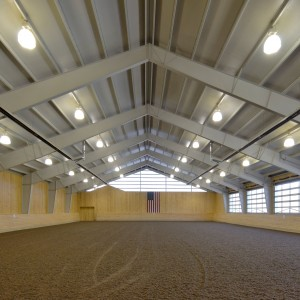 88x190 steel indoor riding arena built by Old Town Barns