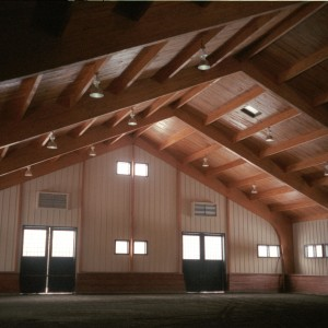 Indoor Riding Arena built by Old Town Barns