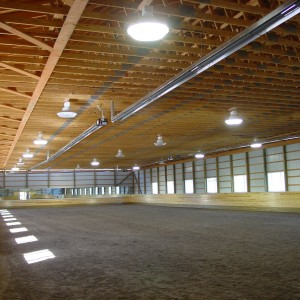 72x200 full size indoor heated dressage ring