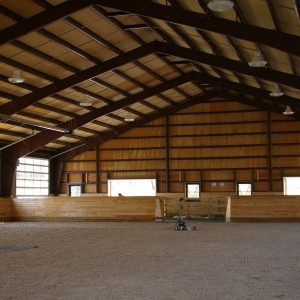 Custom Riding Arena built by Old Town Barns