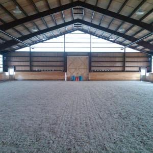 Interior of a custom riding arena
