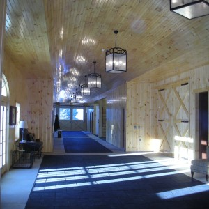 Interior Hall of a Custom Stable by Old Town Barns