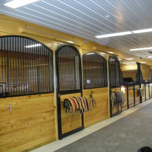Custom Horse Stalls in a Custom Stable by Old Town Barns