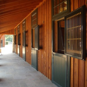 View of Stalls outside a custom stable exterior
