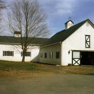 White Stable Exterior by Old Town Barns