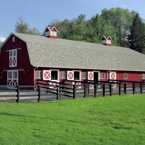 Gambrel Barn Style 8 stall Barn Exterior