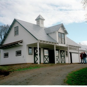 Exterior of a White Horse Barn