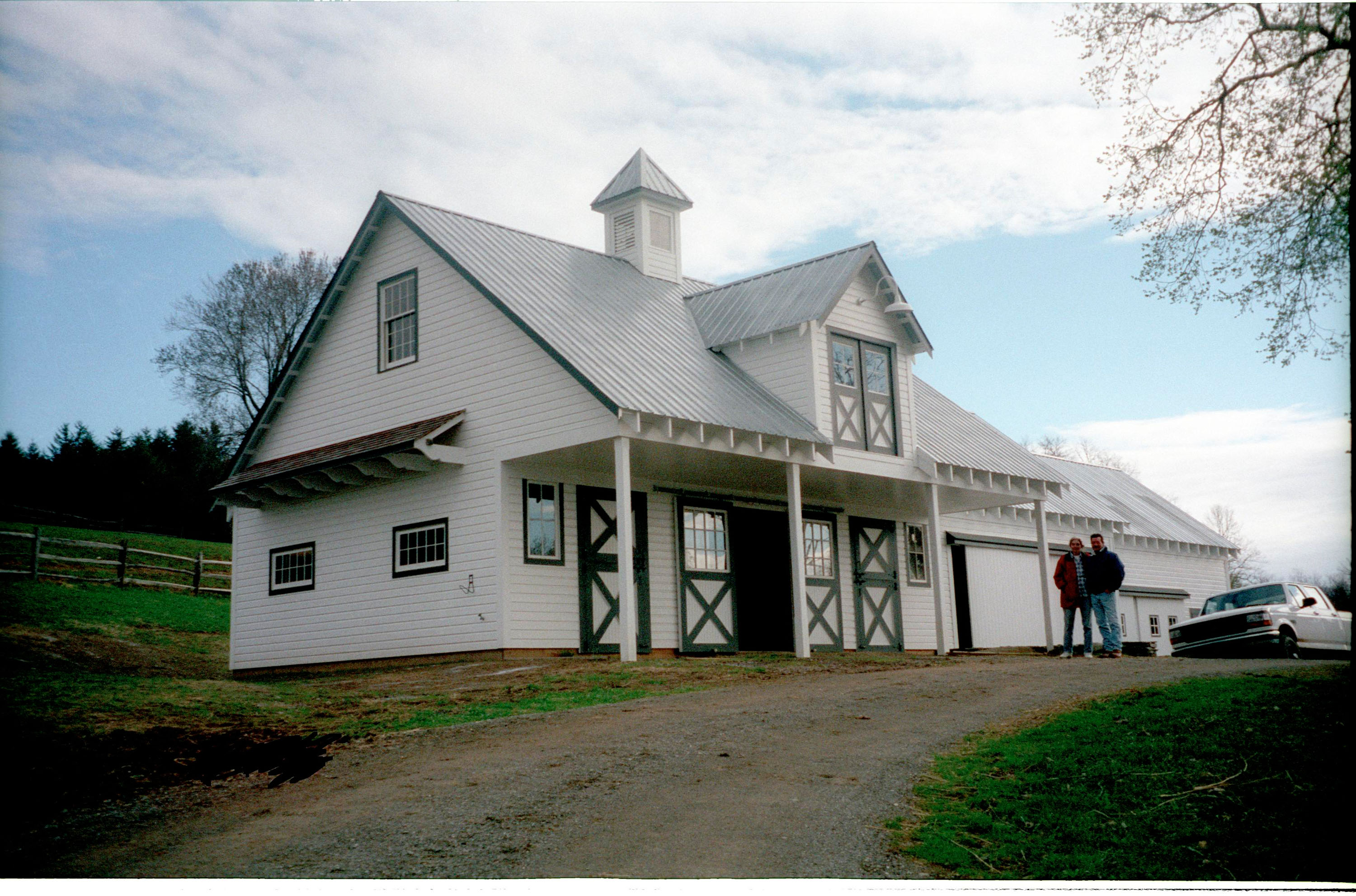 Exterior Of A White Horse Barn Old Town Barns