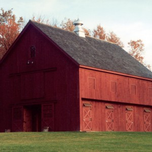 Red Stable Horse Barn Exterior by Old Town Barns