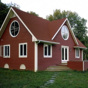Custom Red Barn Home by Old Town Barns