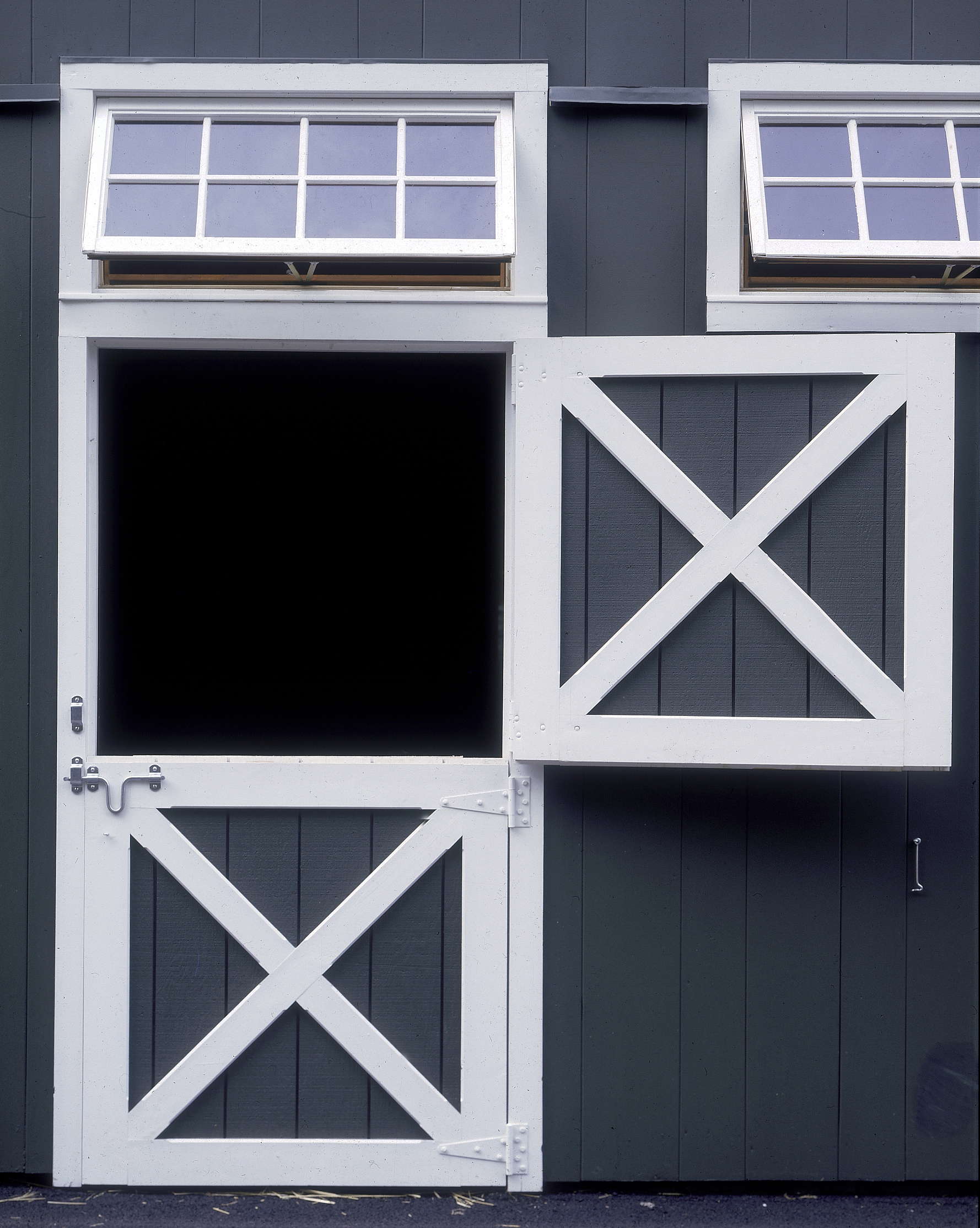 Dutch Door With Transom Window Horse Stall In A Barn Old Town Barns